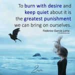 To Burn With Desire And Keep Quiet