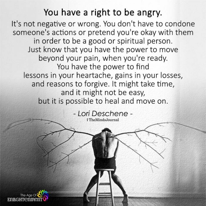 You Have A Right To Be Angry