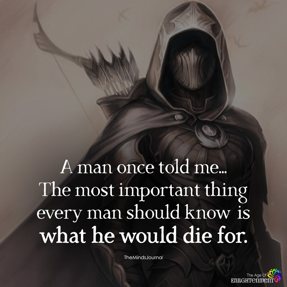 A Man Once Told Me