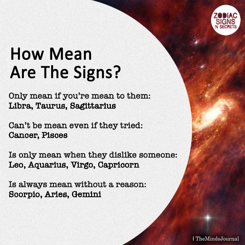 How mean Are The Signs