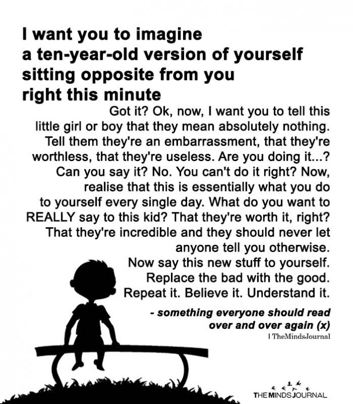 I Want You To Imagine A Ten-Year-Old Version Of Yourself