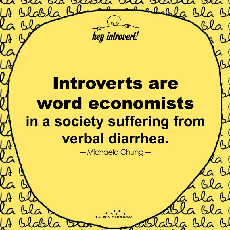 Introverts Are Word Economists In A Society