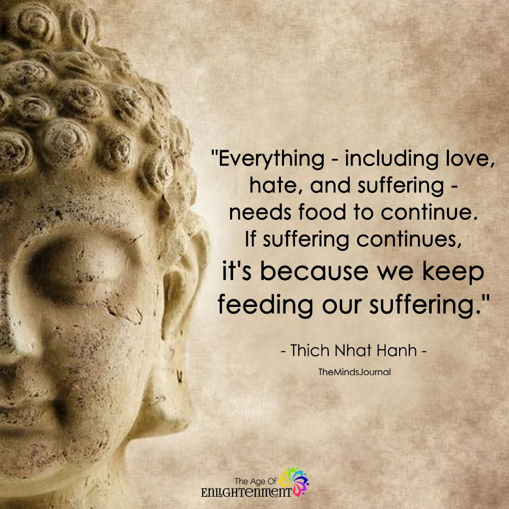 Everything - Including Love, hate, And Suffering - Needs Food To Continue