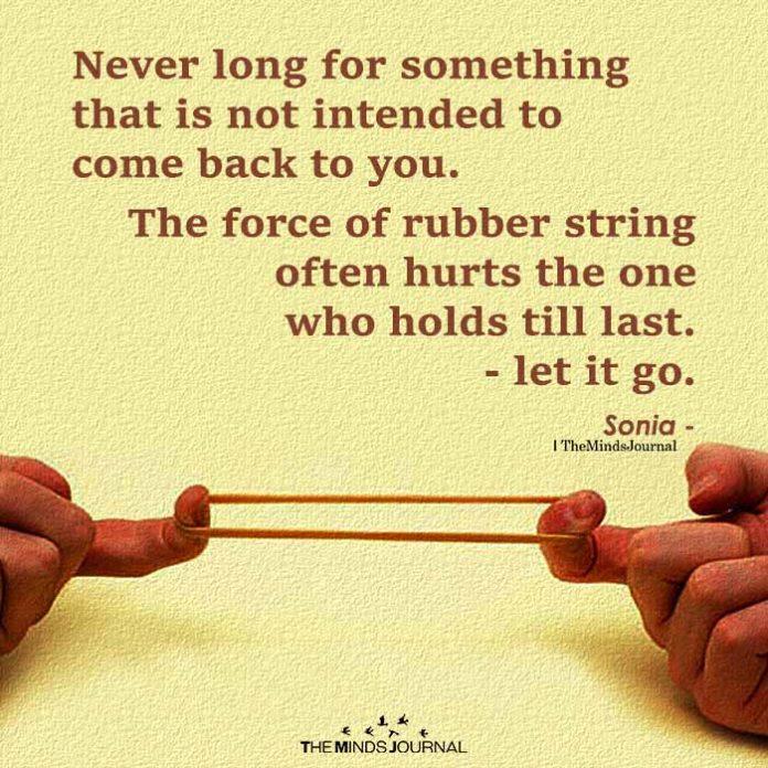 Never Long For Something u