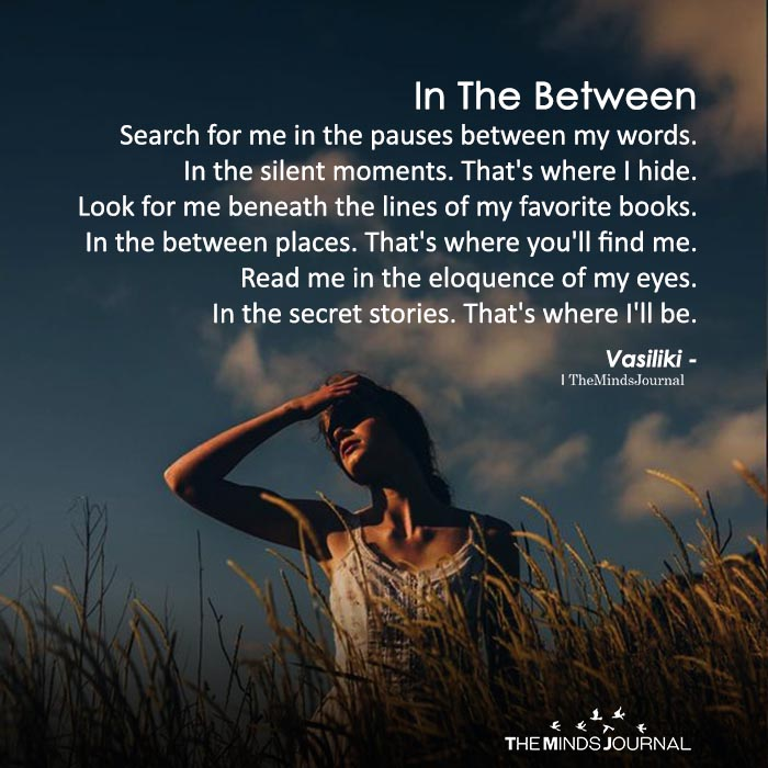 Search For Me In The Pauses Between My Words
