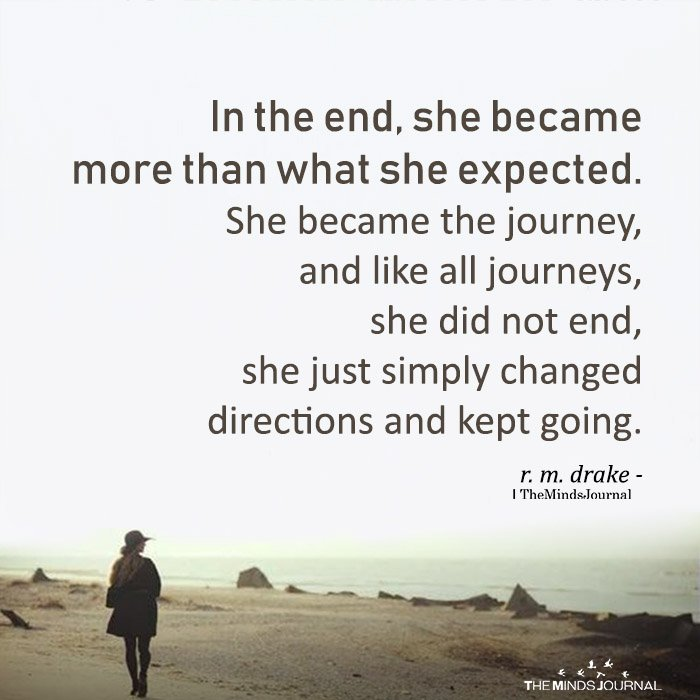 In The End, She Became More Than What She Expected