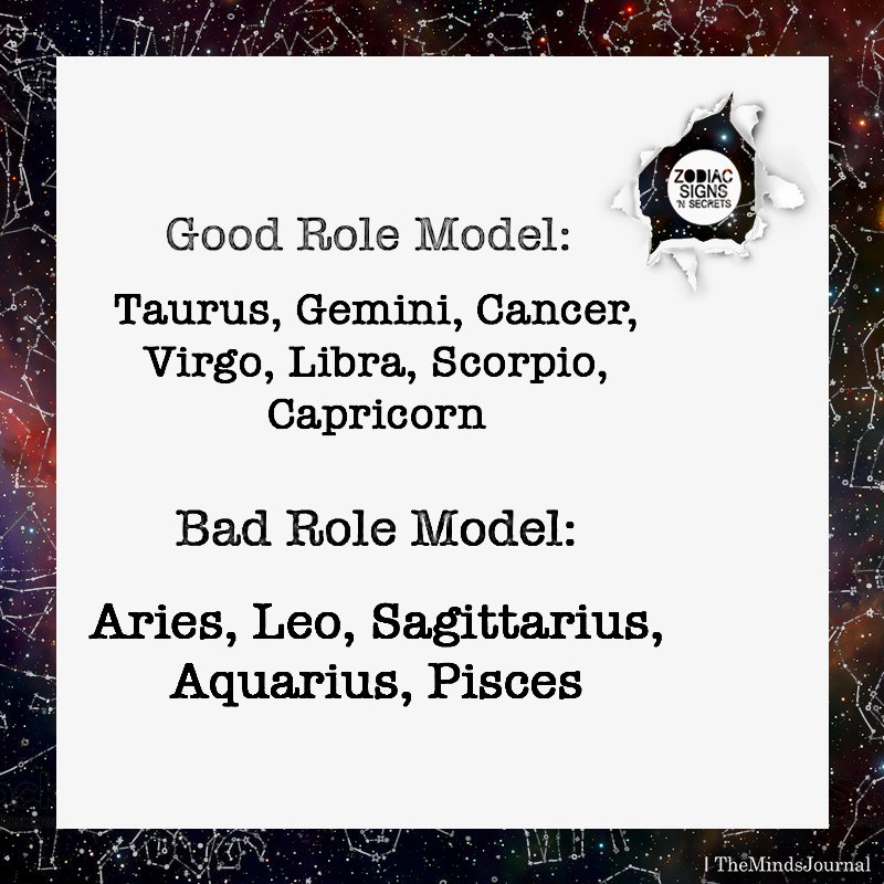 Signs As Good Role Model And Bad Role Model