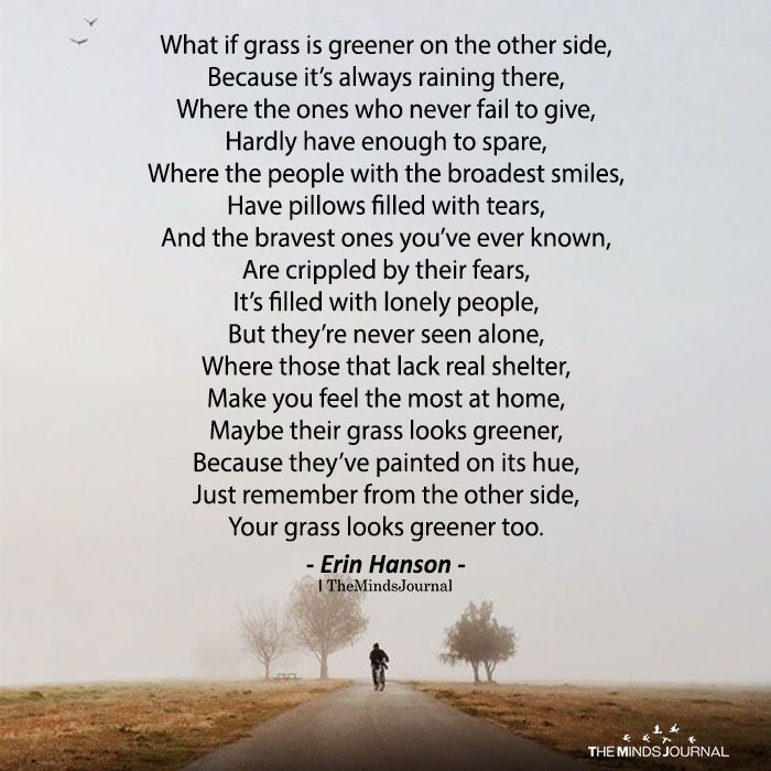 What If Grass Is Greener On The Other Side