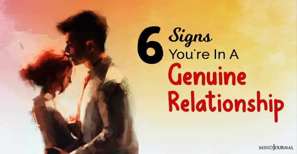 a genuine relationship