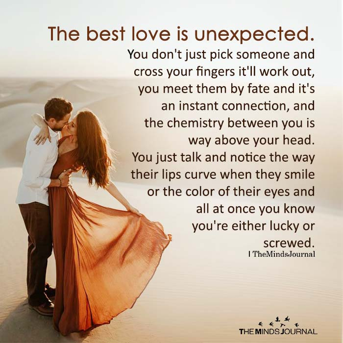 The best love is unexpected