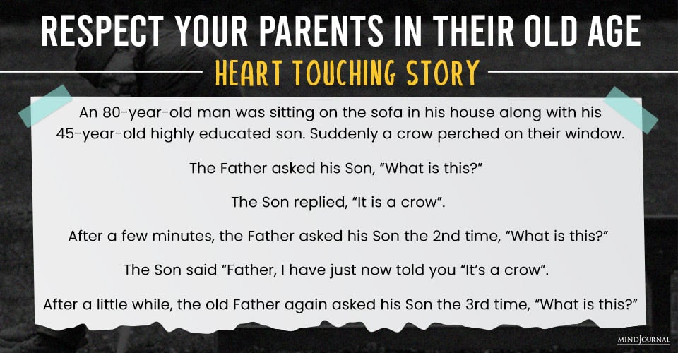 love and respect parents in old age