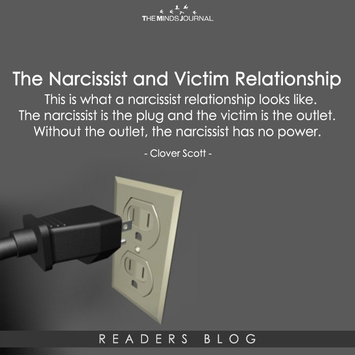 The narcissist and victim relationship