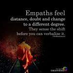 Empaths feel distance