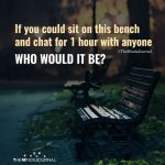 If you could sit on this bench