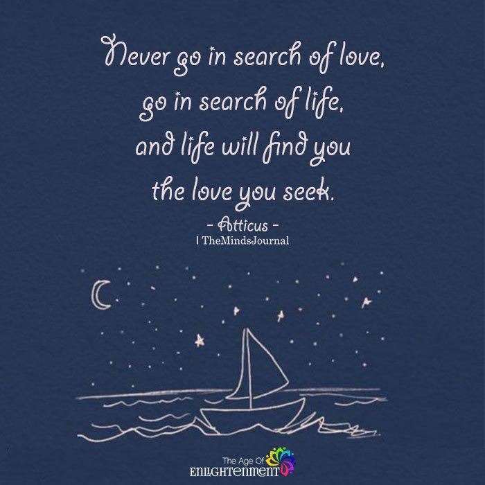 Never Go In Search Of Love