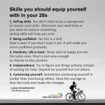 Skills you should equip yourself with in your 20s