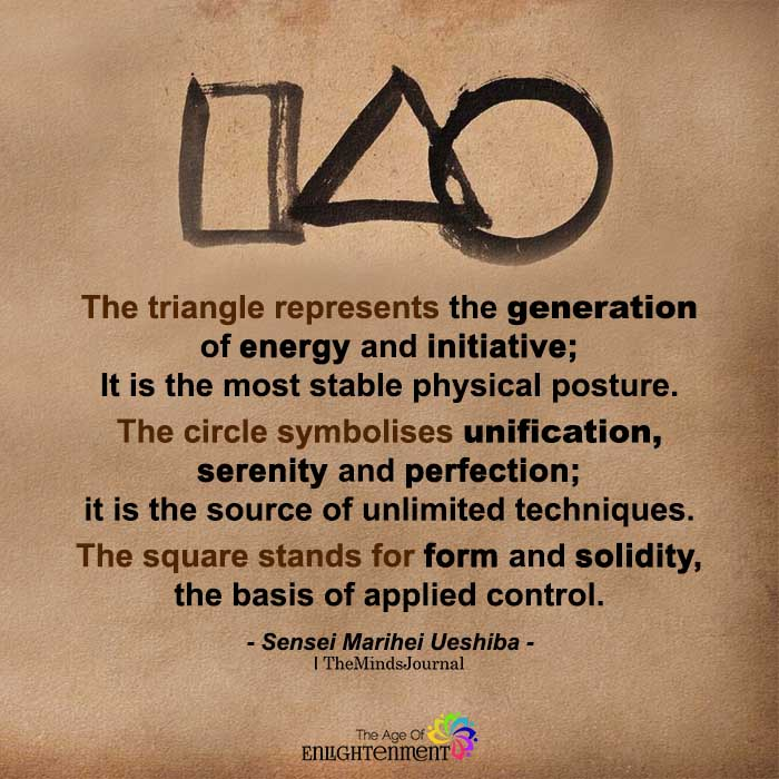 The Triangle Represents The Generation Of Energy And Initiative