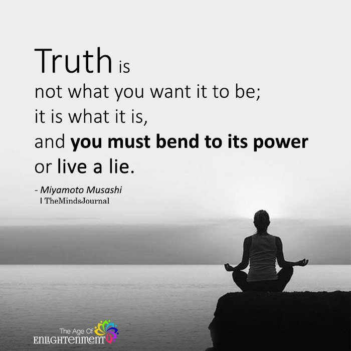 Truth is not what you want it to be