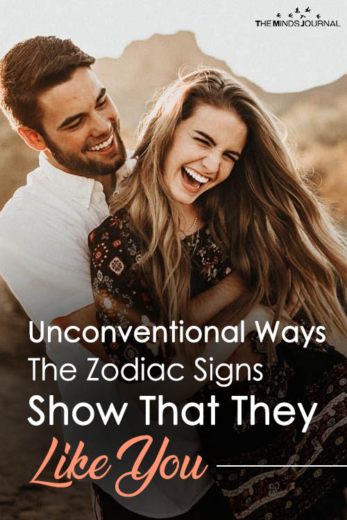 Unconventional Ways The Zodiac Signs Show That They Like You