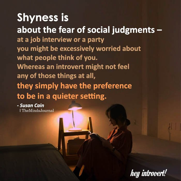 Shyness Is About The Fear Of Social Judgments