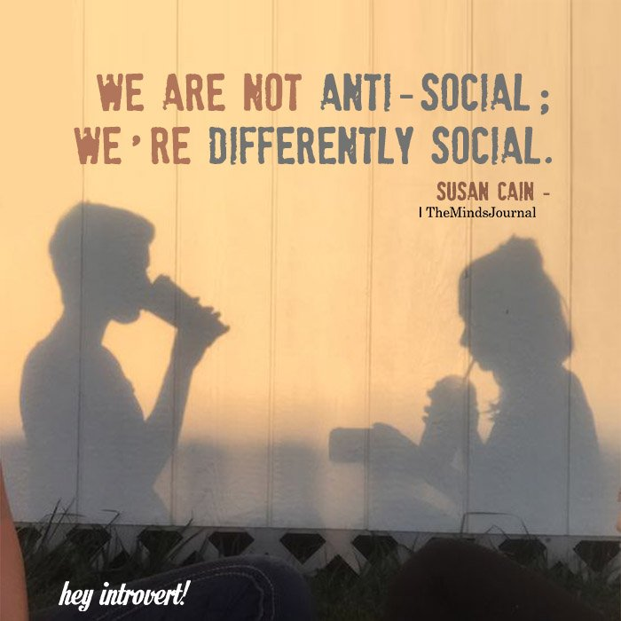 We Are Not Anti-social