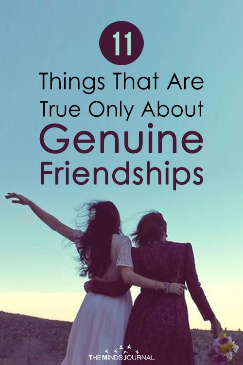 11 Things True About Genuine Friendships