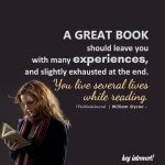A great book should leave you with many experiences