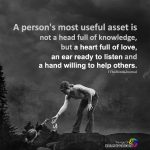A person's most useful asset is not a head