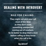 Dealing with introvert