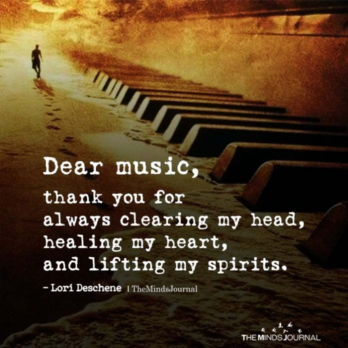 Dear music, thank you for always clearing my head