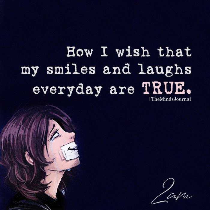 How I wish that my smiles