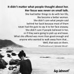 It didn't matter what people thought about her