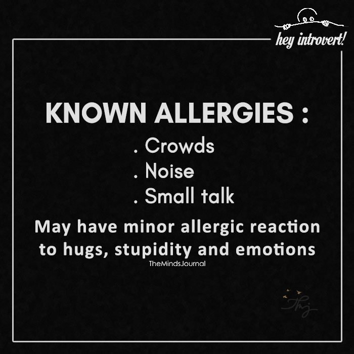 Known allergies