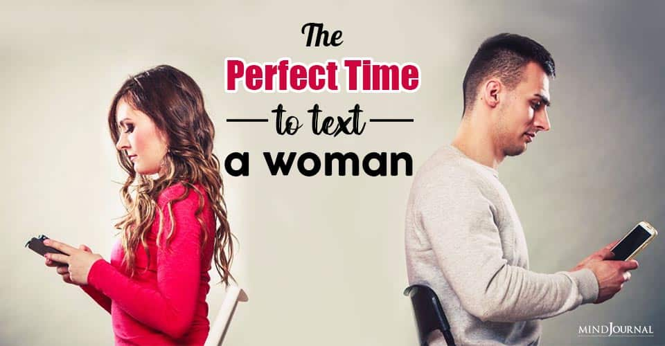 Perfect Time Text Woman