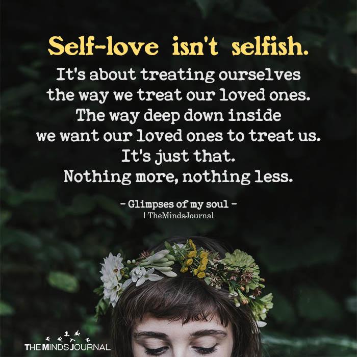 Self-love isn't selfish