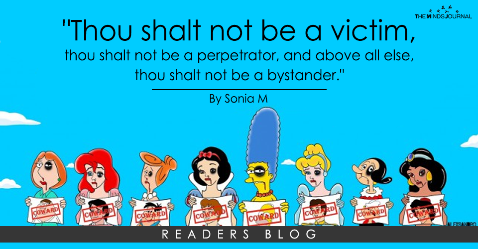 """Thou shalt not be a victim, thou shalt not be a perpetrator, and above all else, thou shalt not be a bystander."""