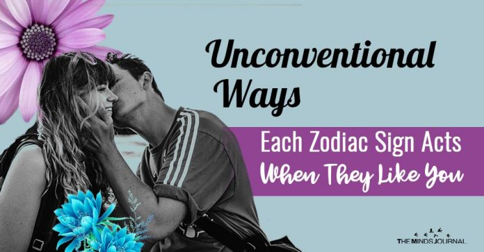Unconventional Ways Each Zodiac Sign Acts When They Like You