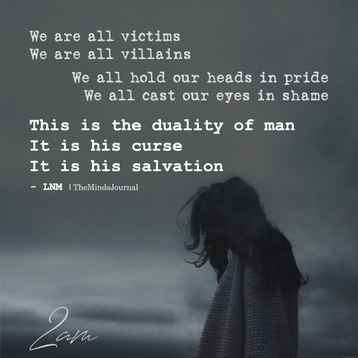 we are all victims