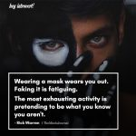 Wearing a mask wears you out
