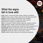 What the signs fall in love with
