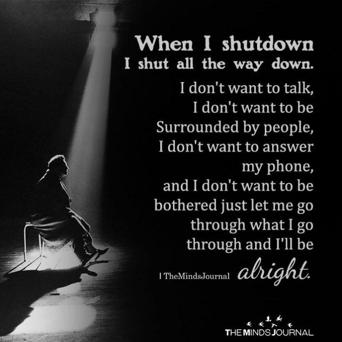 When I shutdown I shut all the way down