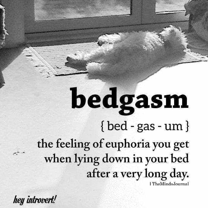 bedgasm ( bed - gas - um)