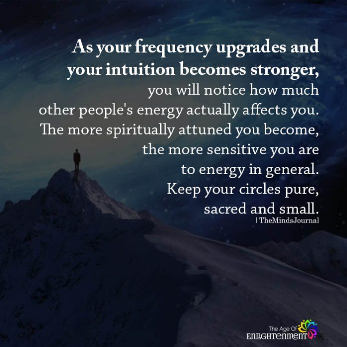 As your frequency upgrades