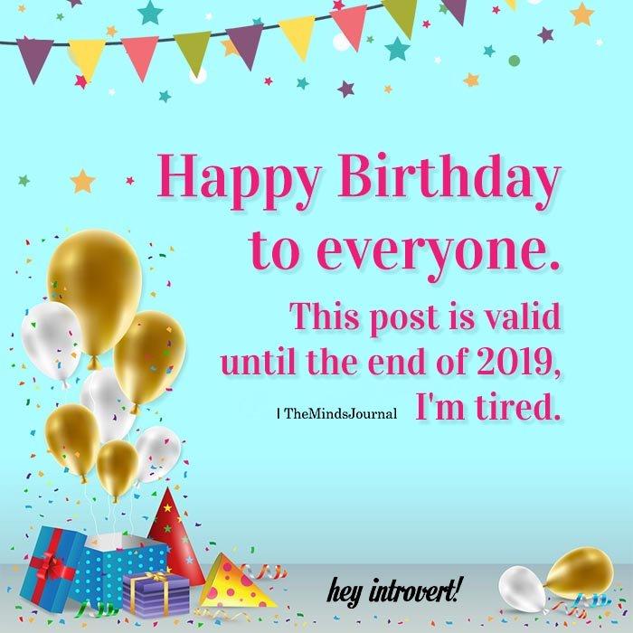 Happy Birthday To Everyone