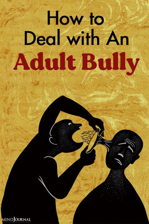 How Deal Adult Bully pin