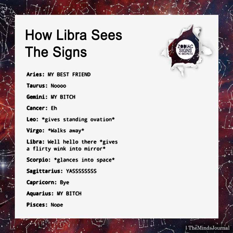 Libra sees the signs