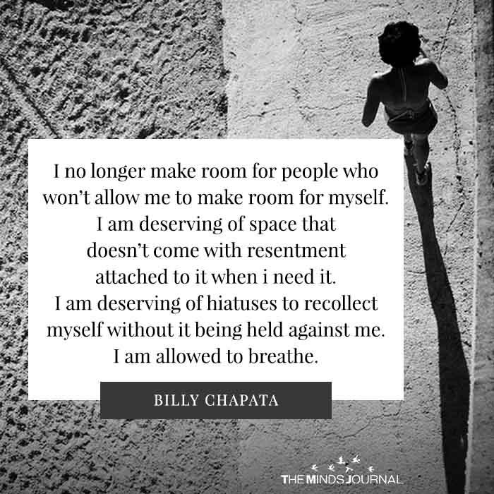 I No Longer Make Room For People