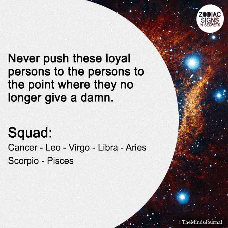 Never Push These Loyal Persons Squad