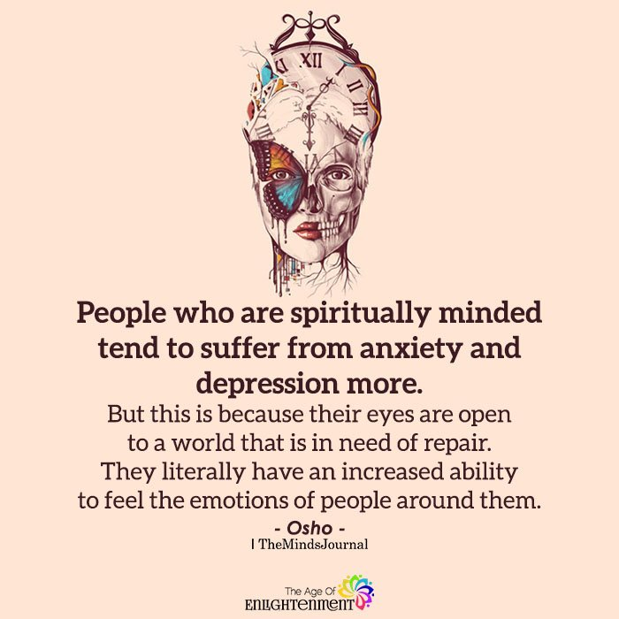 People Who Are Spiritually Minded Tend To Suffer From Anxiety And Depression More