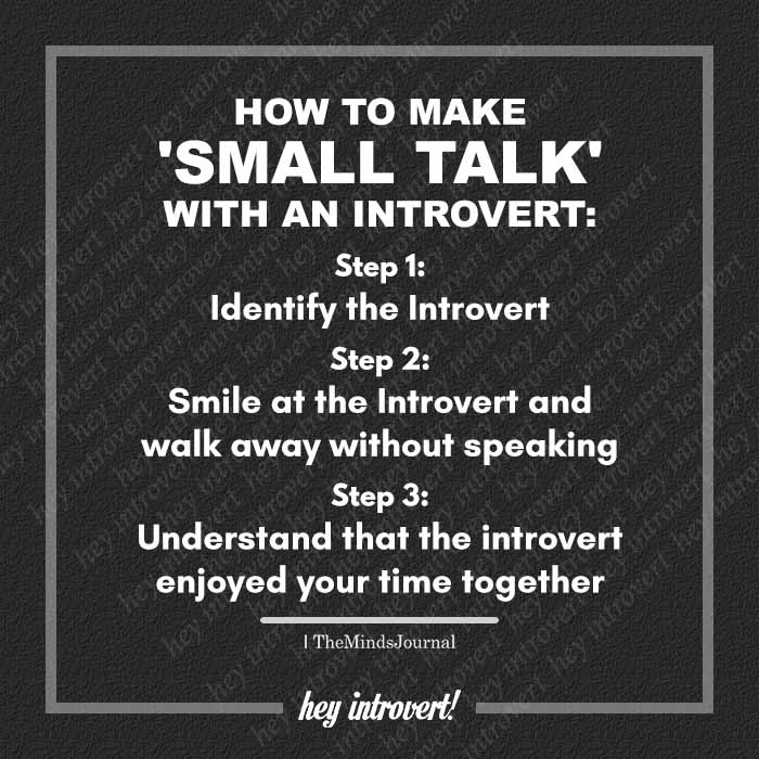 How To Make 'Small Talk' With An Introvert